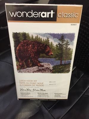 Wonderart Latch Hook Kit - Bear Sealed Free Post