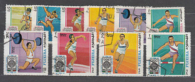 South Arabia Este (Fujeira) - Mail Yvert 80+A.20 or Olympics of Mexico