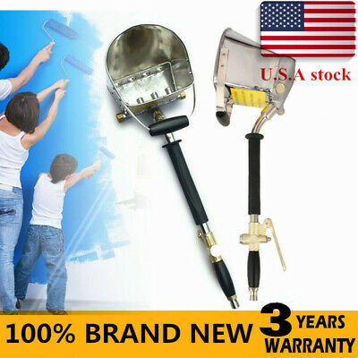 Air Stucco Mortar Sprayer Plaster Hopper Cement Sprayer Gun Tools 4 Jet USA