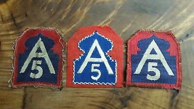 WWII 5th Army PatchUS Army Italian Woven Theater Italy