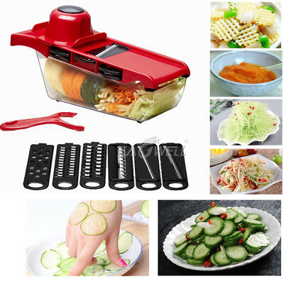 US Mandoline Vegetable Fruit Slicer Cutter Chopper Dicer Kitchen with Container