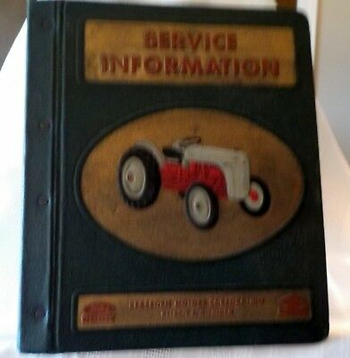 Vintage FORD DEARBORN SERVICE INFORMATION BINDER - FORD Tractor Division   A+++