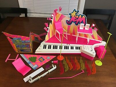 Vintage Hasbro Jem and the Holograms Star Stage Lot Playset And Extras