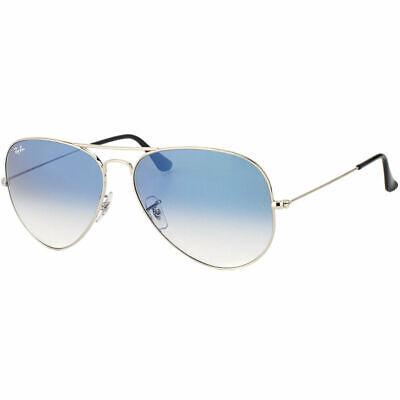 Ray Ban Aviator Classic RB 3025 003/3F Silver Sunglasses Lite Blue Gradient 58mm