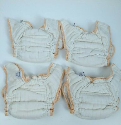 Green Mountain Cloth Eez workhorse organic newborn lot of 4 diapers EUC L#4
