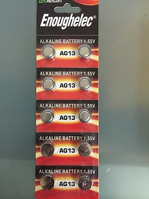 10x AG13 Cell Battery LR44 357 157 303 A76 LR154 L1154 Coin Battery Exp 2022