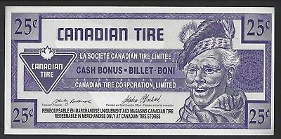"""UNC"" Canada Canadian Tire Money 25 Cents ""9900455xxx"""