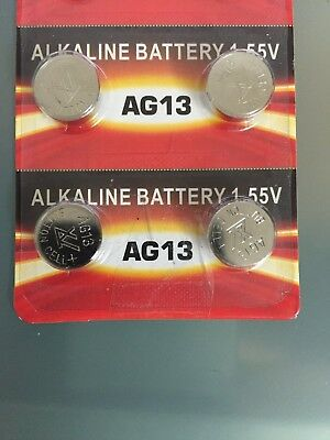 4x AG13 Cell Battery LR44 357 157 303 A76 LR154 L1154 Coin Battery Exp 2022