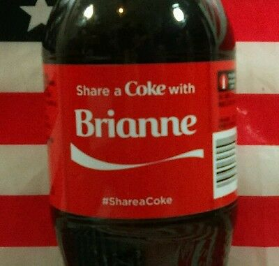 Share A Coke With Brianne Limited Edition Coca Cola Bottle 2015 USA