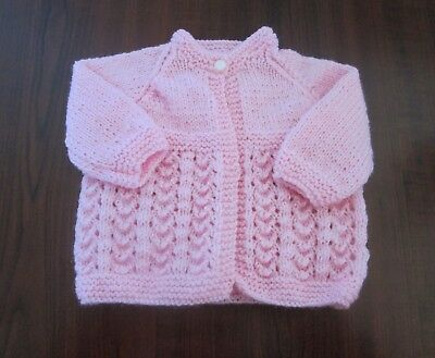 New Hand Knitted Prem/small Baby jacket size 0000