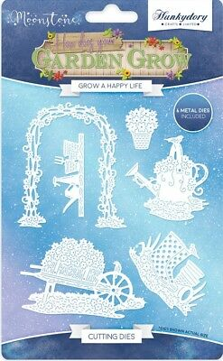 Hunkydory - Moonstone GROW A HAPPY LIFE How Does Your Garden Grow Craft Die Set