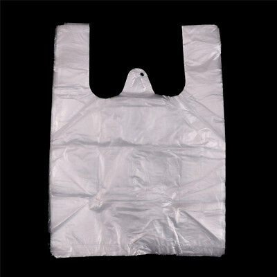 40pcs 20*28cm Retail Merchandise Supermarket Grocery Plastic Shopping Bag AU
