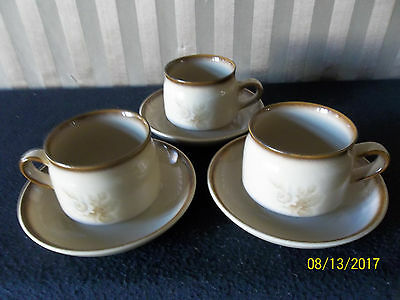 Denby Images Teacups and Saucers x 3