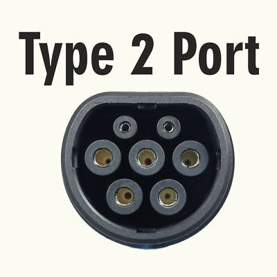 Type 2 MENNEKES EV Tethered Charging Plug and Lead 16Amps - COILED GREEN cable