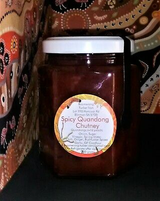 SPICY QUANDONG CHUTNEY very tasty for the Aussie BBQ etc, can gift wrap