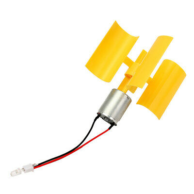 DC Micro Motor Small LED Lights Vertical Axis Wind Turbines Generator Blades