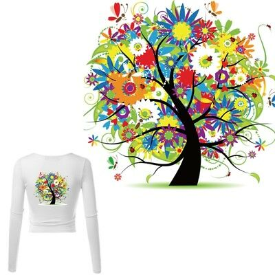 Tree Patches T-shirt Press Heat Transfer Sticker Washable Iron On Appliques