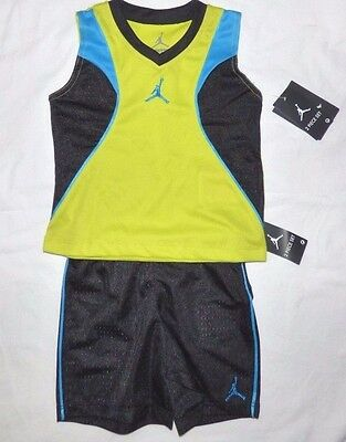 Nike Michael Jordan Shirt Shorts 2 Piece Set Size 12, 24 Months Nwt $46