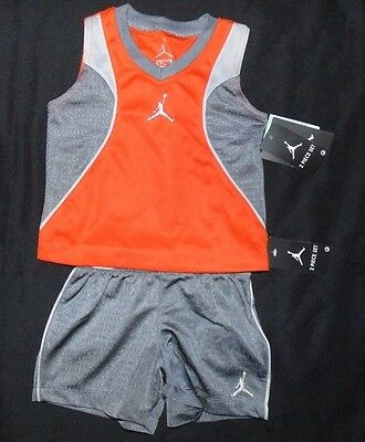 Nike Michael Jordan Shirt Shorts 2 Piece Set Size 12, 18, 24 Months Nwt $46
