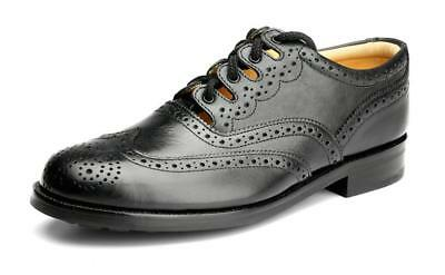 Scottish Black Ghillie Brogue Piper & Drummer Active Men New Shoes