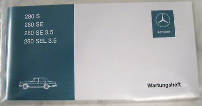 Original Mercedes-Benz Wartungsheft Baureihe W108 280S/280SE/280SEL 3,5