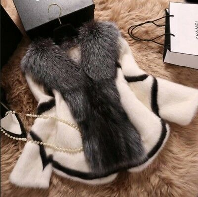 Winter Faux Fur Big Collar Coats Casual Jackets Short Trench Parka Faux Fox hot
