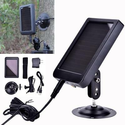 Solar Panel Charger Adapter For Hunting Trail Scouting Camera HC-500 HC-300 AM