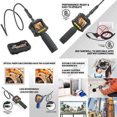Handheld Digital Lcd Borescope Inspection Camera Kit W/ Led Lights 8Mm Diameter