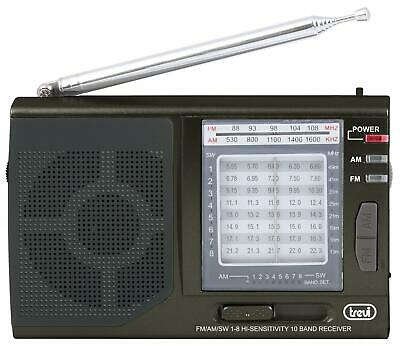 Trevi MB 728 Compact Portable 10 Band World Receiver Radio FM/AM/SW in Black