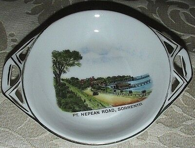 Vintage Dish Bowl Pt Nepean Road Sorrento 40's ? Victoria Czech. Ceramic13.5CmW