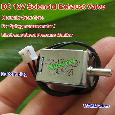 DC 12V Solenoid Exhaust Vent Valve Normally Open Type N/O For Sphygmomanometer