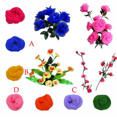 6pcs Multicolor Tensile Nylon Stocking DIY Flower Making Material Nylon Flower