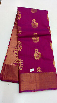 Pink South India Uppada Silk Saree Heavy Jari Silk Work Grand Pallu Festivel