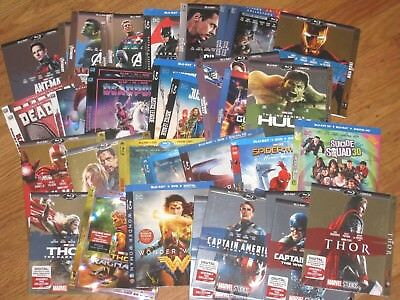 Super Heroes Blu Ray slipcover - Many to choose from (NO MOVIE DISC!)