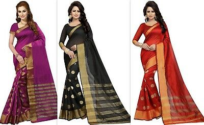 Designer bollywood pakistani indian cotton silk saree embroidery Sari Color SS