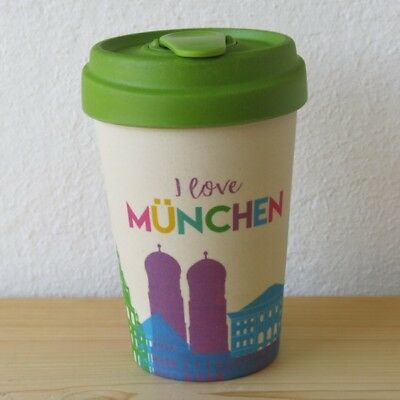 Bamboo Cup Coffee To Go Becher Munchen Skyline I Love Bambus