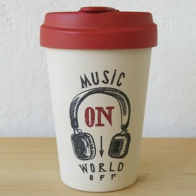 Bamboo Cup Coffee To Go Becher Music On World Off Bambus