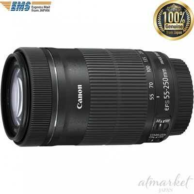 Canon EF-S 55-250mm f/4-5.6 IS STM Telephoto Zoom Lens from JAPAN EMS F/S