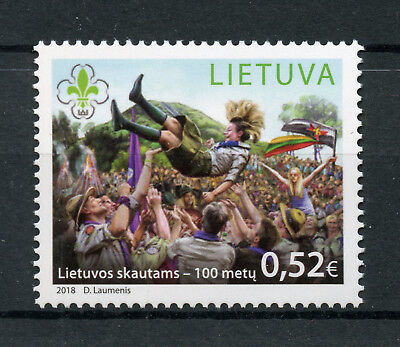 Lithuania 2018 MNH Lithuanian Scouts 100th Anniv 1v Set Scouting Stamps