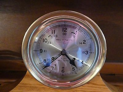 Vintage Bell Clock Company 8 Day Chime Mantle Clock