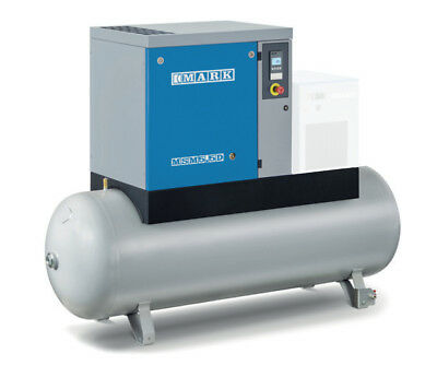 Screw Compressor Mark MSM Maxi 5,5 Bis 15 KW with 270 and 500 ltr. Kettle