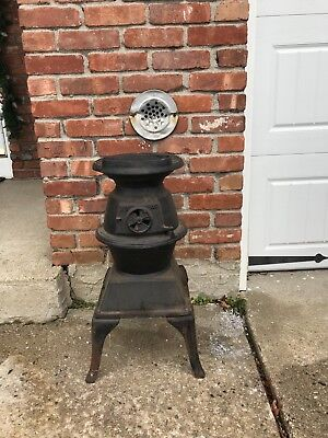 Antique Small Cast Iron Atlanta Stove Works Pot Belly 60 Coal Wood Stove