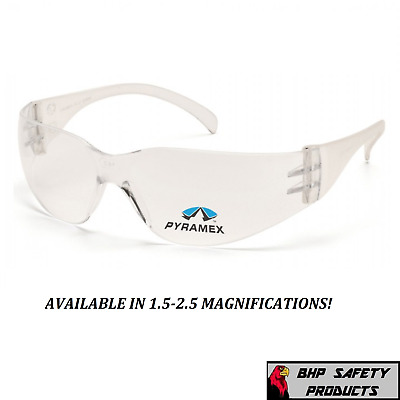 Pyramex Intruder Reader Bifocal Safety Glasses 1.5-2.5 Magnification Pack Sizes
