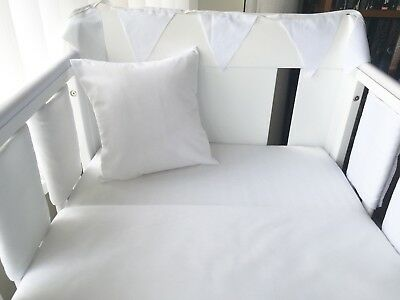 "12"" Handmade Cushion Cover Plain White"