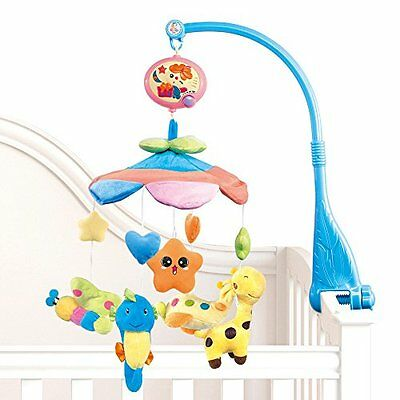 Flash B201 Baby Bedding Crib Musical Mobile With Hanging Rotating Soft Colorful