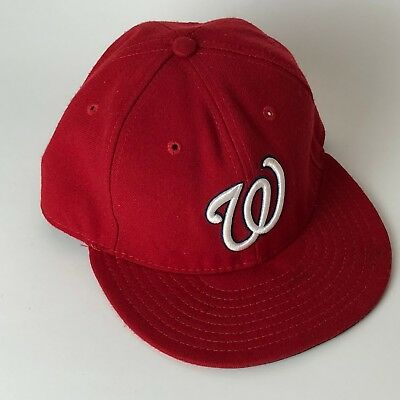 Washington Nationals New Era Fitted Cap Hat Sz 7 MLB Official On Field Red 518f4905099c