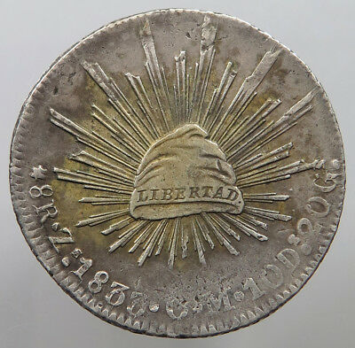 MEXICO 8 REALES 1833 ZS  #t39 183