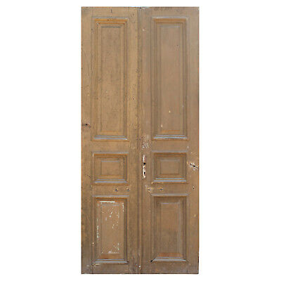 Reclaimed Antique Door Pair from France, 19th Century, NED847