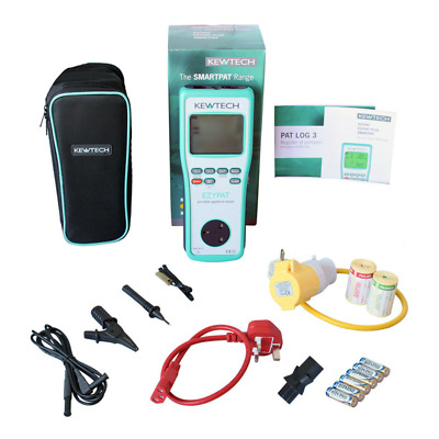 Kewtech EZYPAT battery operated PAT Tester + Accessories KIT6V