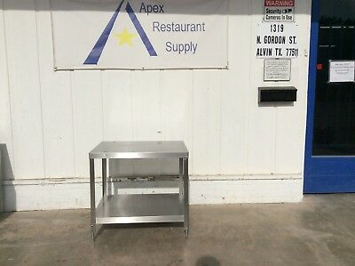 ALL STAINLESS Berkel  32 x 24 Equipment Stand Commercial #3078